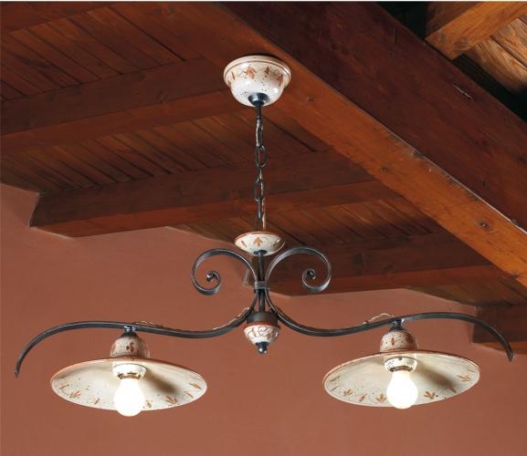 Lampade rustiche in ceramica e ferro battuto illuminazione per ...